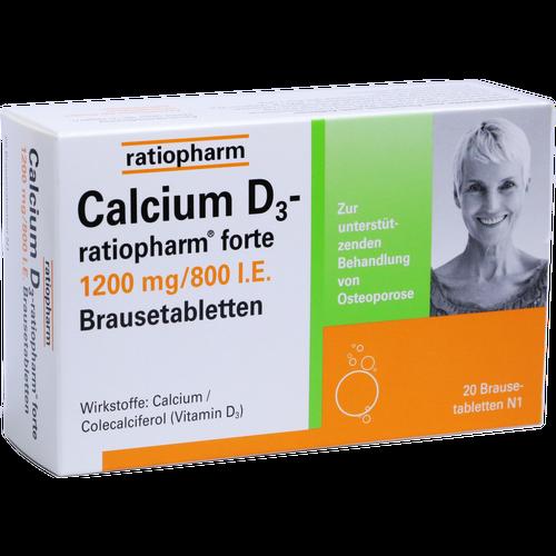 Verpackungsbild(Packshot) von CALCIUM D3-ratiopharm forte Brausetabletten