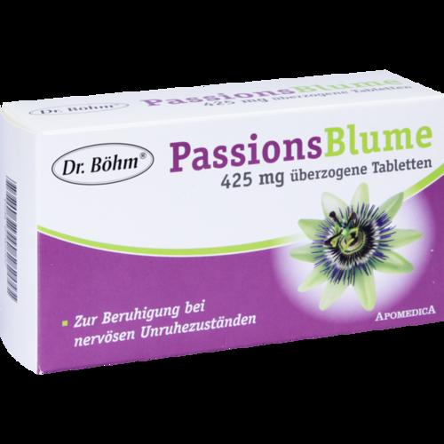 Verpackungsbild(Packshot) von DR.BÖHM Passionsblume 425 mg Dragees