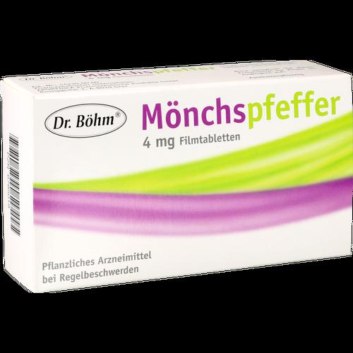 Verpackungsbild(Packshot) von DR.BÖHM Mönchspfeffer 4 mg Filmtabletten