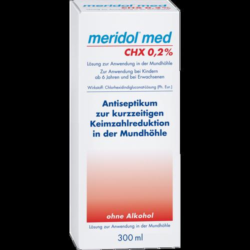 Verpackungsbild(Packshot) von MERIDOL med CHX 0,2% Spülung