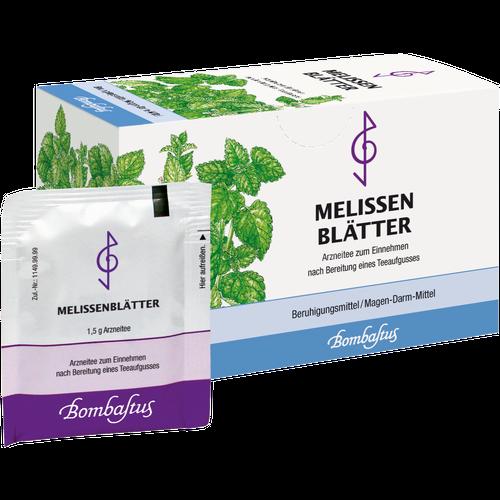 Verpackungsbild(Packshot) von MELISSENBLÄTTER Tee Filterbeutel