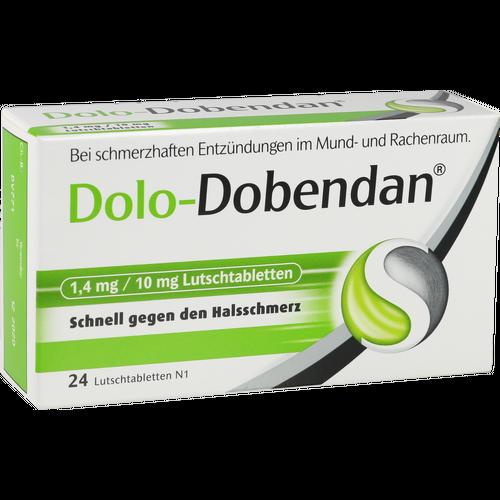 Verpackungsbild(Packshot) von DOLO-DOBENDAN 1,4 mg/10 mg Lutschtabletten