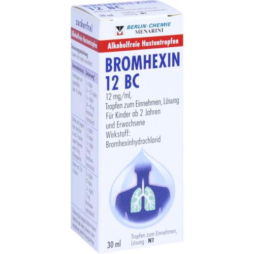 Verpackungsbild(Packshot) von BROMHEXIN 12 BC Tropfen zum Einnehmen