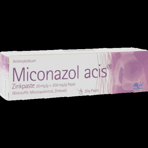 Verpackungsbild(Packshot) von MICONAZOL acis Zinkpaste