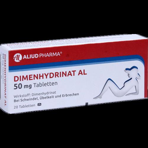 Verpackungsbild(Packshot) von DIMENHYDRINAT AL 50 mg Tabletten