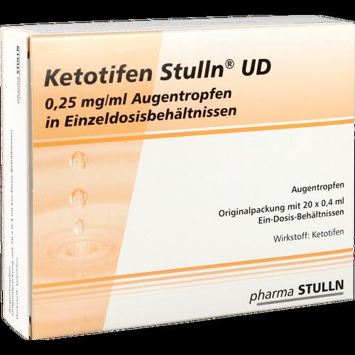Verpackungsbild(Packshot) von KETOTIFEN Stulln UD Augentropfen Einzeldosispip.