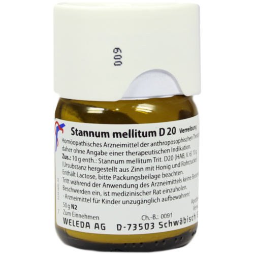 Verpackungsbild(Packshot) von STANNUM MELLITUM D 20 Trituration