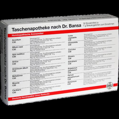 Verpackungsbild(Packshot) von DHU Taschenapotheke Dr.Bansa