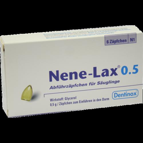 Verpackungsbild(Packshot) von NENE LAX 0,5 Suppos.f.Säugl.