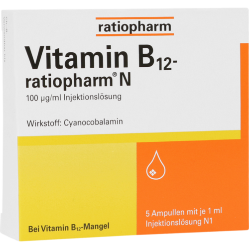 Verpackungsbild(Packshot) von VITAMIN B12-RATIOPHARM N Ampullen