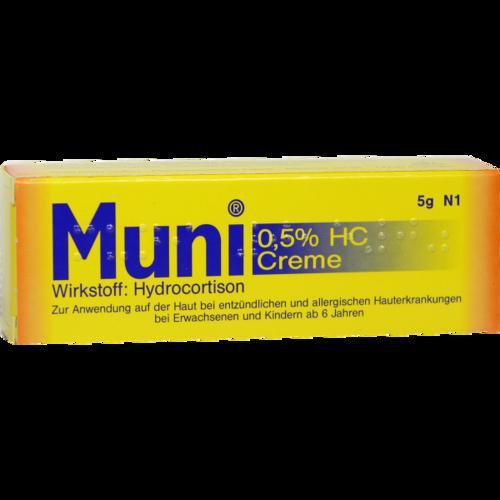 Verpackungsbild(Packshot) von MUNI 0,5% HC Creme