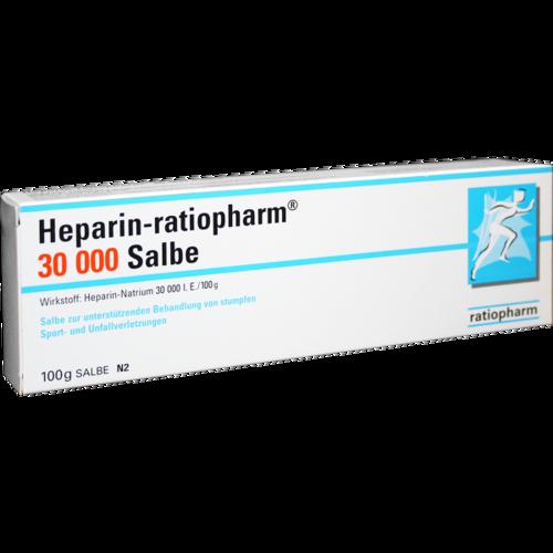 Verpackungsbild(Packshot) von HEPARIN-RATIOPHARM 30.000 Salbe