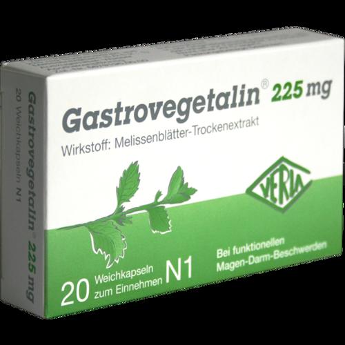 Verpackungsbild(Packshot) von GASTROVEGETALIN 225 mg Weichkapseln