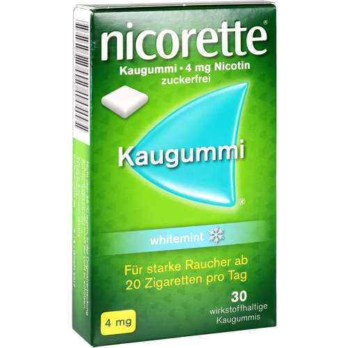 Verpackungsbild(Packshot) von NICORETTE Kaugummi 4 mg whitemint