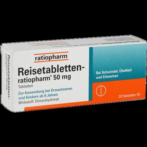 Verpackungsbild(Packshot) von REISETABLETTEN-ratiopharm