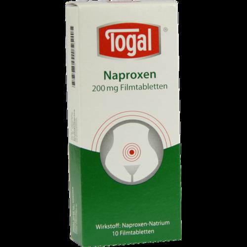 Verpackungsbild(Packshot) von TOGAL Naproxen 200 mg Filmtabletten