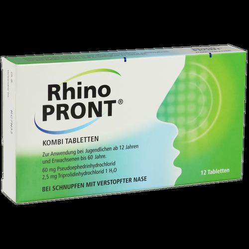 Verpackungsbild(Packshot) von RHINOPRONT Kombi Tabletten