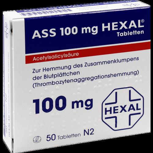 Verpackungsbild(Packshot) von ASS 100 HEXAL Tabletten