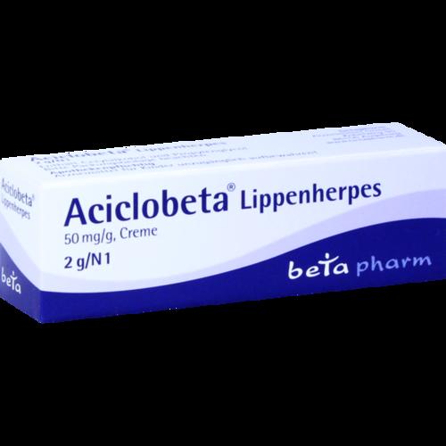 Verpackungsbild(Packshot) von ACICLOBETA Lippenherpes Creme