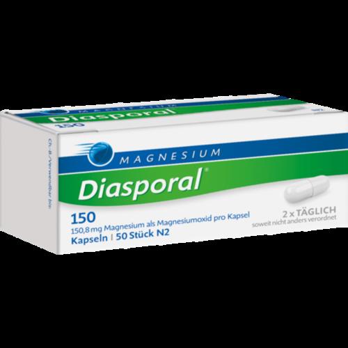 Verpackungsbild(Packshot) von MAGNESIUM DIASPORAL 150 Kapseln