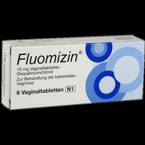 Verpackungsbild(Packshot) von FLUOMIZIN 10 mg Vaginaltabletten