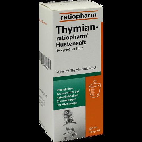 Verpackungsbild(Packshot) von THYMIAN-RATIOPHARM Hustensaft
