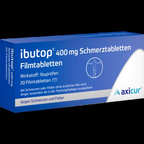 Verpackungsbild(Packshot) von IBUTOP 400 mg Schmerztabletten Filmtabletten