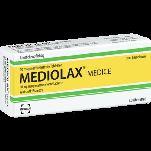 Verpackungsbild(Packshot) von MEDIOLAX Medice magensaftresistente Tabletten