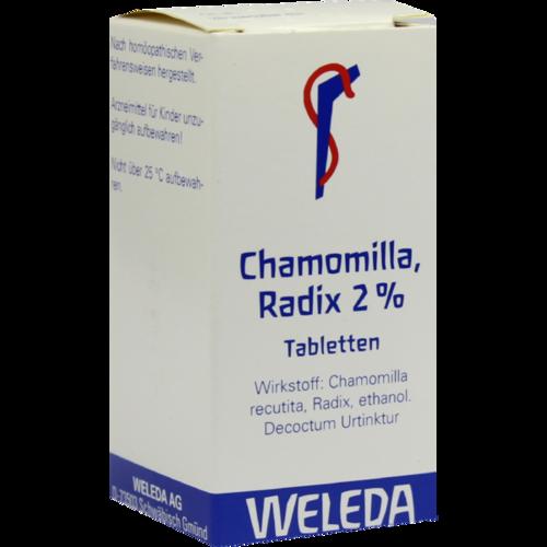Verpackungsbild(Packshot) von CHAMOMILLA RADIX 2% Tabletten
