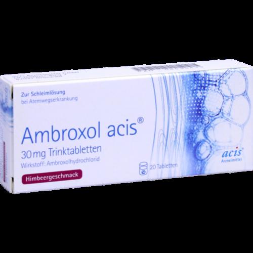 Verpackungsbild(Packshot) von AMBROXOL acis 30 mg Trinktabletten