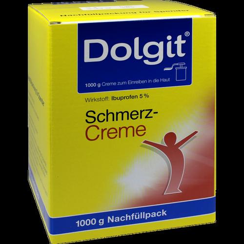 Verpackungsbild(Packshot) von DOLGIT Schmerzcreme Nachfüll für Spender