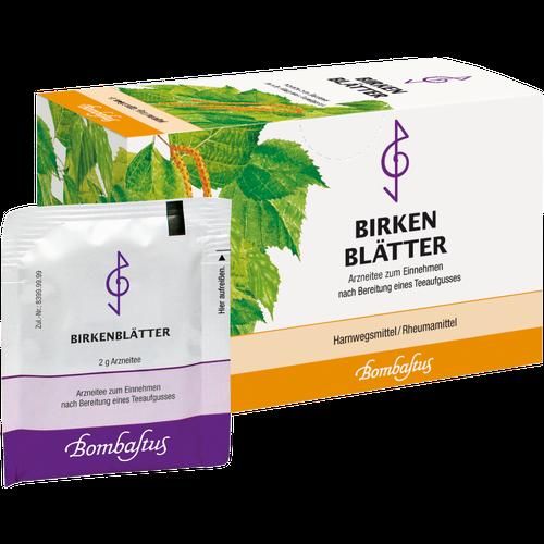 Verpackungsbild(Packshot) von BIRKENBLÄTTER Tee Filterbeutel