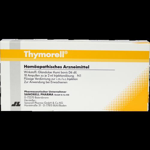 Verpackungsbild(Packshot) von THYMORELL Injektionslösung Ampullen