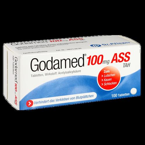 Verpackungsbild(Packshot) von GODAMED 100 TAH Tabletten