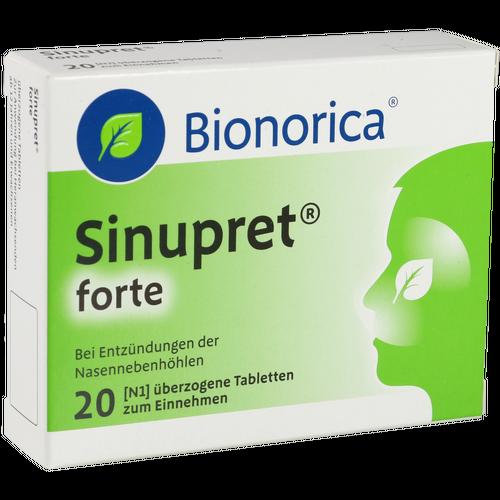 Verpackungsbild(Packshot) von SINUPRET forte überzogene Tabletten