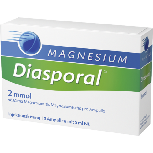 Verpackungsbild(Packshot) von MAGNESIUM DIASPORAL 2 mmol Ampullen