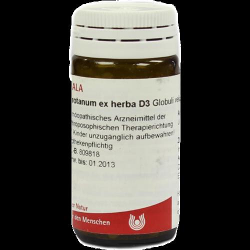 Verpackungsbild(Packshot) von ABROTANUM EX Herba D 3 Globuli
