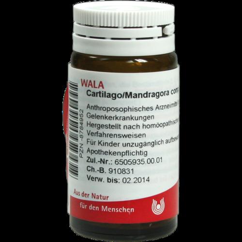 Verpackungsbild(Packshot) von CARTILAGO/Mandragora comp.Globuli