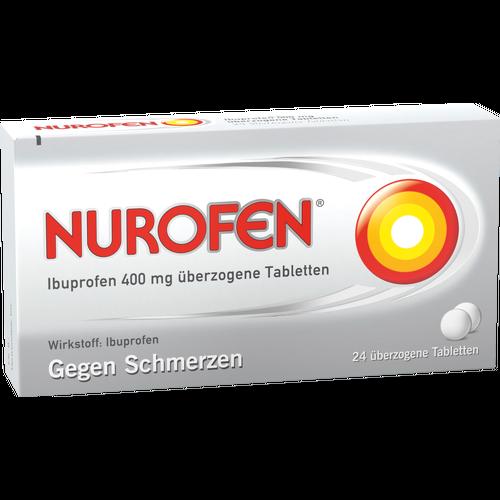 Verpackungsbild(Packshot) von NUROFEN Ibuprofen 400 mg überzogene Tabletten