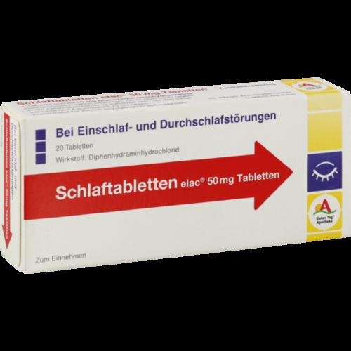 Verpackungsbild(Packshot) von SCHLAFTABLETTEN elac 50 mg