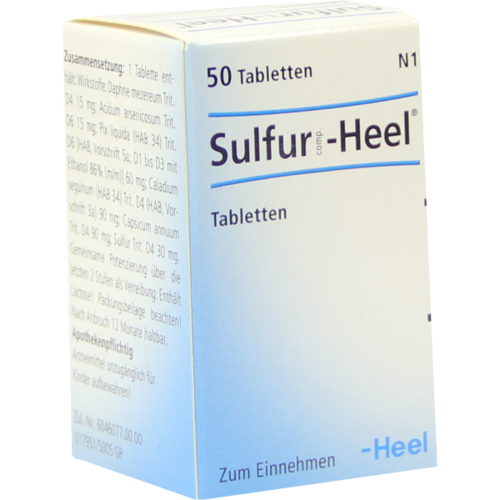 Verpackungsbild(Packshot) von SULFUR COMP.Heel Tabletten