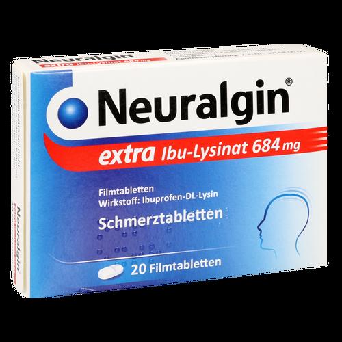 Verpackungsbild(Packshot) von NEURALGIN extra Ibu-Lysinat Filmtabletten