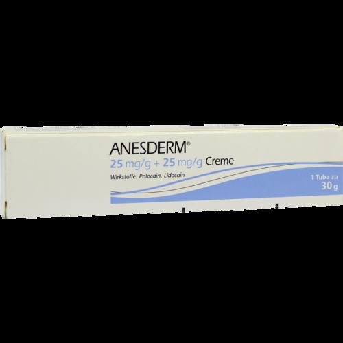 Verpackungsbild(Packshot) von ANESDERM 25 mg/g + 25 mg/g Creme