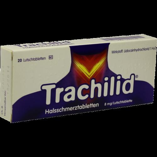 Verpackungsbild(Packshot) von TRACHILID Halsschmerztabletten Lutschtabletten