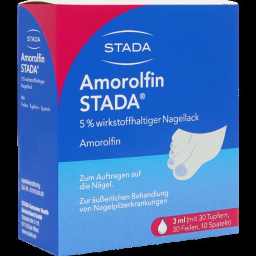 Verpackungsbild(Packshot) von AMOROLFIN STADA 5% wirkstoffhaltiger Nagellack
