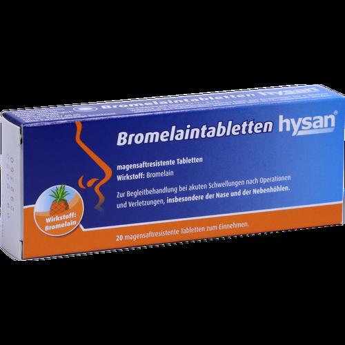Verpackungsbild(Packshot) von BROMELAIN TABLETTEN hysan magensaftres.Tabletten