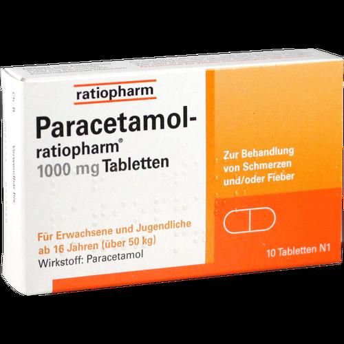 Verpackungsbild(Packshot) von PARACETAMOL-ratiopharm 1.000 mg Tabletten