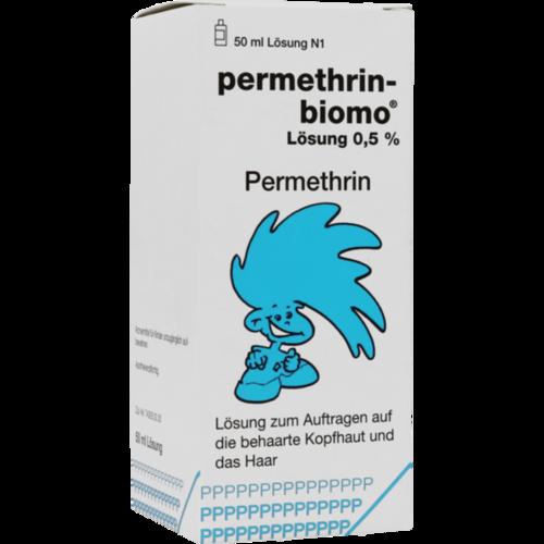 Verpackungsbild(Packshot) von PERMETHRIN-BIOMO Lösung 0,5%