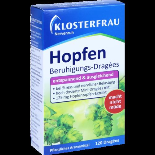 Verpackungsbild(Packshot) von KLOSTERFRAU Hopfen BeruhigungsDragees Nervenruh