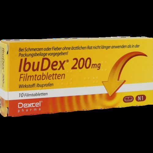 Verpackungsbild(Packshot) von IBUDEX 200 mg Filmtabletten